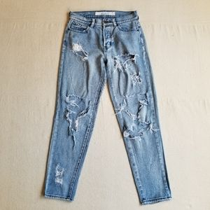 Melville ripped button fly jeans sz 24